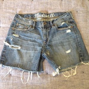 Madewell distressed cut off shorts